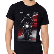 FHM Round Neck Half Sleeves Printed Tshirt_Fhmtmt1 - Black
