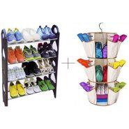 12 Pair Stackable Shoe Rack With Smart Carousel Organiser - 12SHWSMSR