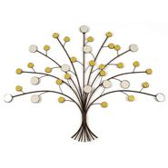 IRON/GLASS Tree Wall Décor-1301-0323H