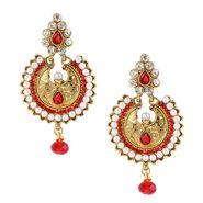 Kriaa Pearl Austrian Stone Earrings _1303724