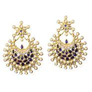 Kriaa Kundan Austrian Stone Pearl Earrings _1303758