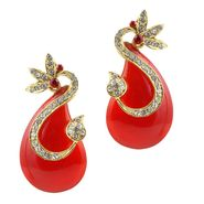 Kriaa Austrian Stone Resin Finish Earrings _1305727