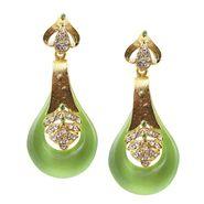 Kriaa Austrian Stone Resin Finish Earrings _1305734