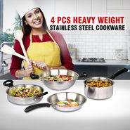 4 Pcs Heavy Weight Stainless Steel Cookware
