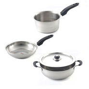 Brilliant 4pcs Stainless Steel Induction Base Cookware Set