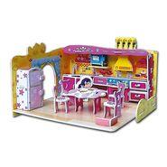 50pcs 3D Puzzle Dream Villa Funny Kitchen pz-7