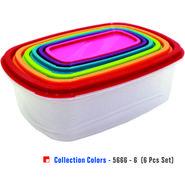 Princeware 6 Pcs Collection Colour Storage Set