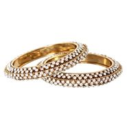 Vendee Fashion Stylish Bangle - Golden