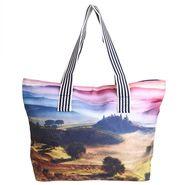 Arisha Leather+Satin Handbag AE38h  -Multicolor