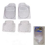 Autofurnish (Imported) Universal Car Floor Mats (Transparent) Set of 4