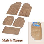 Autofurnish (Imported) Universal Car Floor Mats (Beige) Set of 5