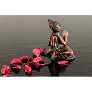 eCraftIndia Metal Resting Buddha on Knee-AGB506