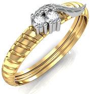 Avsar Real Gold & Swarovski Stone Rupali Ring_A042yb