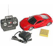 AdraXx 1:24 Scale Super Sports Toy RC Car With Rechargeable Batteries - Red