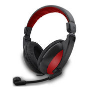 Amkette FDD267 Truchat Boomer Wired Headset - Black & Red