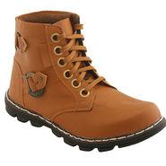 PU  Tan  Boot -ntb08