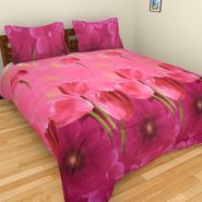 Mangalam Polycotton double Bedsheet  with 2 pillow covers-BD-10