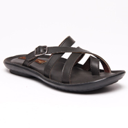 Bacca bucci Faux Leather Slippers - Black