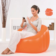 Bestway Comfort Quest Inflatable Comfi Cube Chair - Orange
