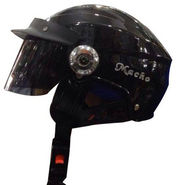Branded Open Face Helmet Macho - Glossy Black
