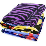 Pack of 3 Designer Printed Double Fleece Blanket-CA_1202
