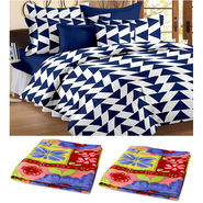 Combo of 2 Double Blanket & Double Bedsheet With 2 Pillow Cover-CA_2_1208-FR1404
