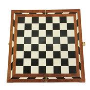 AVM 18inch Acrylic Folding Chess Board (1.25 inch Border, White Black Brown)