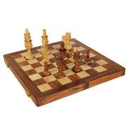 AVM 4inch Lotus Shape Chessmen (4.25 inch Border, Brown Yellow)
