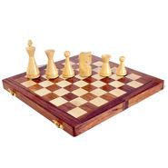 AVM 4inch Modern Chessmen 4 inch Chess Board Brown Yellow)