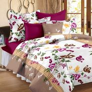 Storyathome 100% Cotton Double Bedsheet With 2 Pillow Cover-CN1264