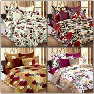 Set of 4 100% Cotton Double Bedsheet With 8 Pillow Cover - CN_12-03-61-64-1407