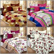 Set of 4 100% Cotton Double Bedsheet With 8 Pillow Cover  - CN_12-03-64-68-1407