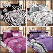 Set of 4 100% Cotton Double Bedsheet With 8 Pillow Cover - CN_12-24-27-29-34