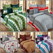 Set of 5 100% Cotton Double Bedsheet With 10 Pillow Cover - CN_12-31-33-37-53-56