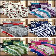 Set of 6 100% Cotton Double Bedsheet With 12 Pillow Cover - CN_12-31-37-53-68-1402-1407