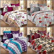 Set of 4 100% Cotton Double Bedsheet With 8 Pillow Cover  - CN_12-31-56-61-64