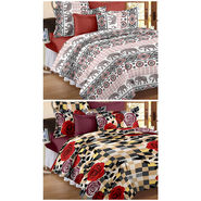 Set Of 2 Double Bedsheet With 4 Pillow Cover-CN_1260-CN1261