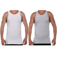 Pack of 2 Blended Cotton Vests For Men_Combo 1 - Grey & White