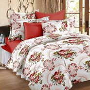 Bedspun 100% Cotton Double Bedsheet With 2 Pillow Covers-CR1403