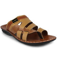 Columbus Synthetic Leather Tan Sandals -2606