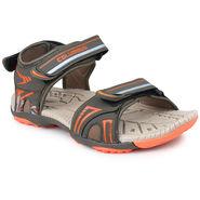 Pede Milan Synthetic Leather Mehndi & Orange Floater -AB-6002