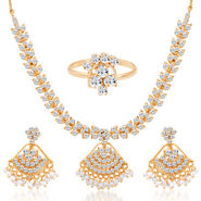 Sukkhi Cluster Gold Plated AD Necklace Set