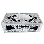 AutoStark Royal Silver Designer Tissue Holder Box