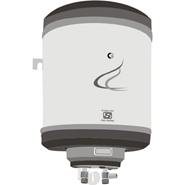 Crompton Greaves SWH315E 15L Metal Body Geyser - White