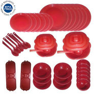 Cutting EDGE 38 Pc Microwaveable Dinner Set Round