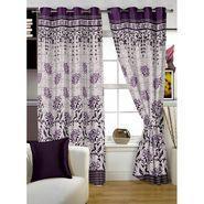 Story @ Home Burgandy Jacquard 1 pc Door curtain-7 feet-DBR4022