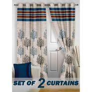 Set of 2 Printed Door curtain-7 feet-DBR_2_4011
