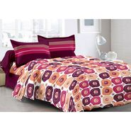 Valtellina 100% Cotton Double Bedsheet with 2 Pillow Cover-6009-A