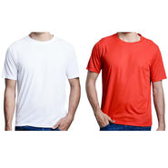 Pack of 2 Oh Fish Plain Round Neck Tshirts_Df2redwht - Red & White