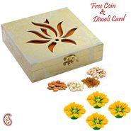 Aapno Rajasthan Laser Cut Lotus Design Gift Box and Diwali Hamper
